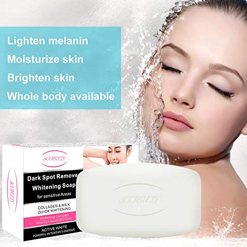 Whitening Seife, Skin Whitening Lightening Soap, Whitening Soap, for Face & Body Dark Armpit/Inner thigh/Elbow/Knee/Private Part (1 Bar - 150 Gram)