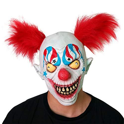 Halloween Horror Maske Latex Haar Clown Maske Kopfbedeckungen Kopfbedeckungen Spukhaus Requisiten