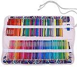 Amoyie Trousse Pliable Peut contenir 100 Crayons de Couleur, Porte-Crayons Sac AVCE 1 Petit Sacs à Cordon Couteau pour Couteau, Gomme