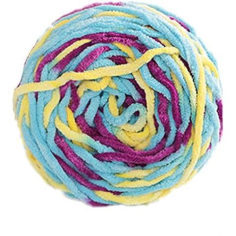 Generic - Matassa naturale per coperte bambini, in filato caldo, 12 colori diversi Multi-colored45