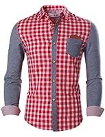 Tom's Ware Deux Tons De Chemises Manches Longues a Carreaux Hommes