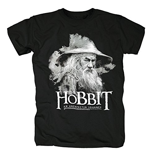 TSP The Hobbit - The Gandalf T-Shirt Herren L (Frodo Beutlin Kostüm Billig)