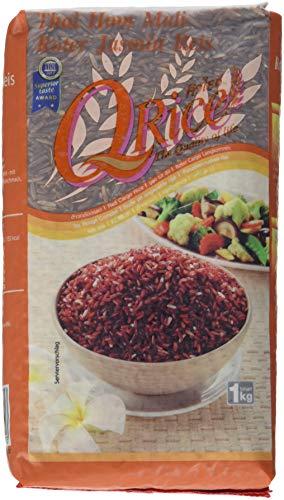 Q Rice Roter Jasminreis, Langkorn, 12er Pack (12 x 1 kg)