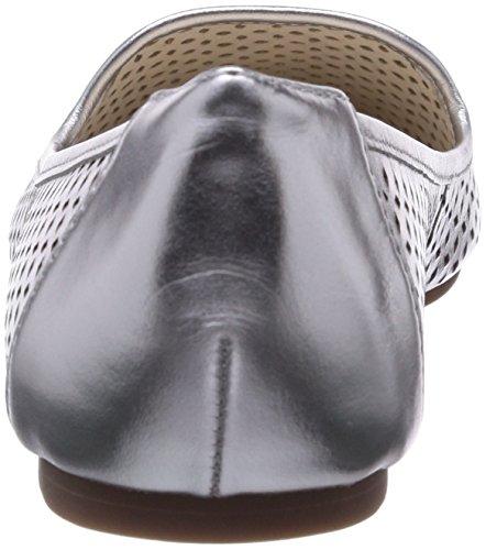 Buffalo 214-3560 Talco Leather, Ballerines fermées femme Argent - Argenté