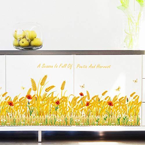 Reifen Weizen Selbstklebende Abnehmbare Wohnzimmer Küchenschrank Tür Wasserdichte Vinyl Wandaufkleber Dekor Kunst Aufkleber Wandbild