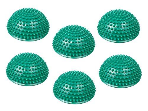 TheraPIE Balance Igel | Gymnastik Igel | Igelball | 6er Sets (6er Set petrol) + Gratispumpe