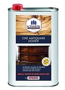 ST WANDRILLE Nettoyant Cire Antiquaire Incolore Sol/Meuble