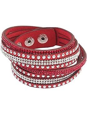 iTemer Armband Bracelet Wickelarmband Glitzer Steine Wristband Bangle Glitzerarmbändern Fashion Luxus Armband...