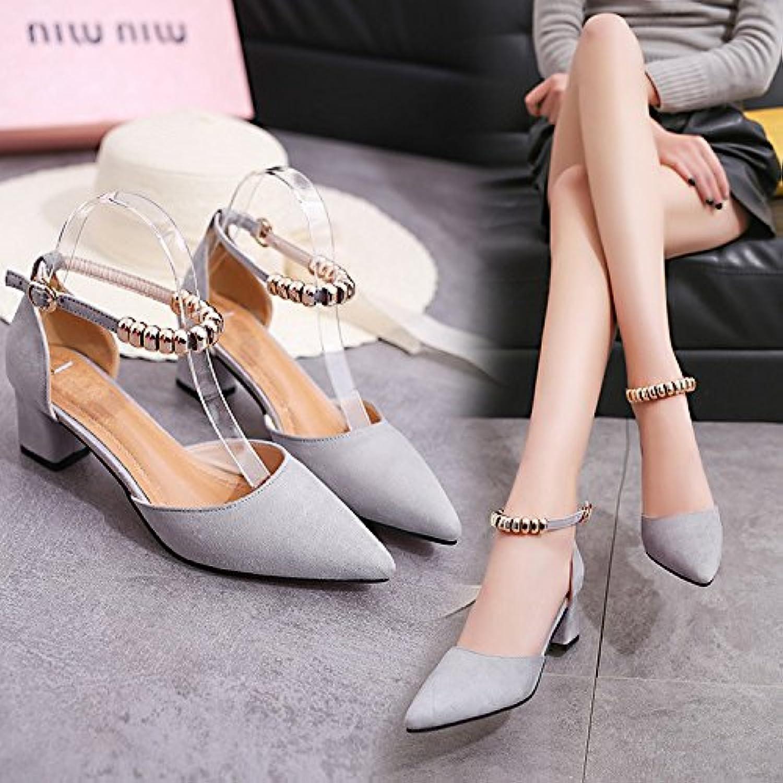 HRCxue tutte le scarpe con tacco alto raso scarpe hollow-point light-heavy con intaglio legami con scarpe da donna... | Clienti In Primo Luogo  | Uomo/Donne Scarpa