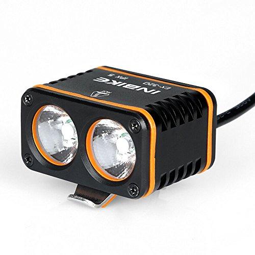Mercery 800lm 8800mah USB wiederaufladbare LED Fahrradbeleuchtung vorne Set Wasserdichte Fahrradlampe Super helle Taschenlampe Lichter Sets Schnellverschluss Einfache Installation Nachtfahrt Suchscheinwerfer