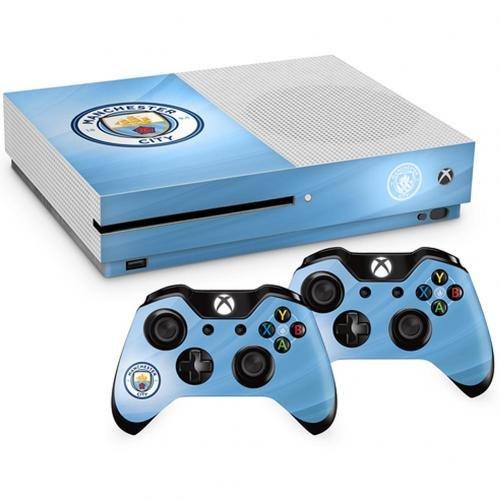Offizielles Manchester City FC Xbox One S Konsole Haut und 2x Controller Haut Combo Pack - Xbox Controller-manchester One