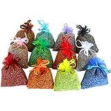 12 saquitos de lavanda ecológica muy aromática - total 120gr - multicolor
