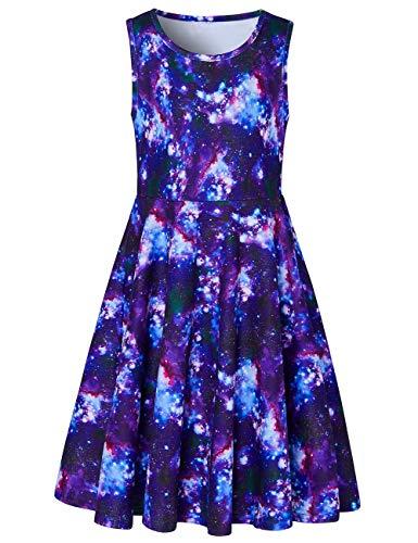 Kleid Schwarz Süße Phantasie Gedruckt Sundress Alter 8 ()