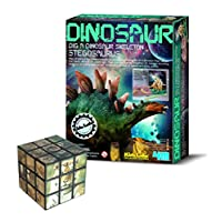 The Good Gift Shop Stegosaurus Find Your Own Dinosaur Set - Comes with a Fun Wild Animal Magic Cube