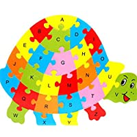 Cupcinu Wooden Jigsaws Puzzles Educational Game Literacy and Spelling Toy Alphabet Toy for Kids 3 4 5 Years Old 21 * 25CM