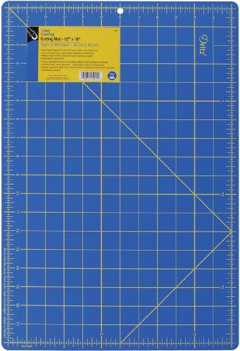 Dritz 12 x 18 cm-Tappetino da taglio quadrettato. dimensioni