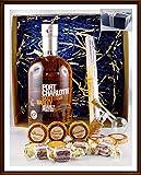 Geschenk Port Charlotte Scottish Barley Islay Whisky + Flaschenportionierer + 10 Edel Schokoladen Confiserie DreiMeister & DaJa + 4 Whisky Fudge kostenloser Versand