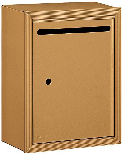 Salsbury Industries 2240BU Standard Surface Mounted Letter Box with USPS Access, Brass by Salsbury Industries Surface Mounted Box