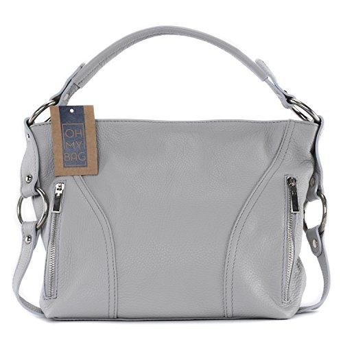 OH MY BAG Sac à Main femme en cuir italien porté épaule - Modèle S - SOLDES
