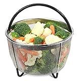 Instant Pot Accessoires Steamer Basket [6qt 8qt Available], convient à l'autocuiseur InstaPot, à un panier d'oeufs ultra/à une poignée en silicone et à des pattes antidérapantes Panier de fruits et