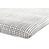 Babyletto Mini Crib Sheet, Tuxedo Grid