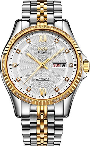 bos-mens-mechanical-texture-white-dial-white-case-stainless-steel-band-wrist-watch-9012-white-gold