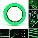 Leuchtendes Klebeband, Selbstklebendem Fluoreszierendes Klebeband, Hochwertige Phosphor Klebeband Wasserdicht Markierungsband Luminous Tape,15mm*10m