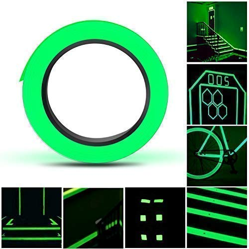 d, Selbstklebendem Fluoreszierendes Klebeband, Hochwertige Phosphor Klebeband Wasserdicht Markierungsband Luminous Tape,15mm*10m ()