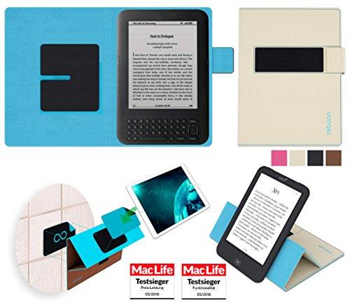 Hülle für Amazon Kindle Keyboard 3G Tasche Cover Case Bumper   in Beige   Testsieger
