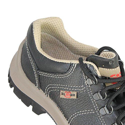Almar HYPNOS S1P src Chaussures de sécurité bauschuhe Plat Noir B de Marchandises Noir - Noir