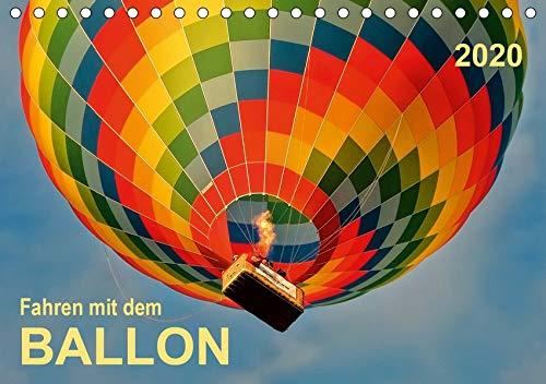 Fahren mit dem Ballon (Tischkalender 2020 DIN A5 quer): Ballonfahren - das atemberaubende Abenteuer zwischen Himmel und Erde. (Monatskalender, 14 Seiten ) (CALVENDO Sport)