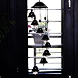 ExclusiveLane Melodious Sound Ceramic Unique Wind Chimes Set Of 8 In Black For Gift / Home Décor