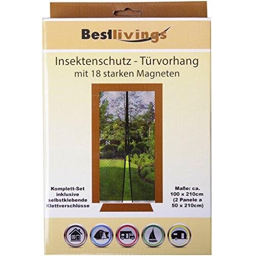 Insektenschutz - Türvorhang mit 18 starken Magneten Mückennetz Fliegennetz Türen Insektenschutz Fliegengitter Moskitonetz Insektennetz