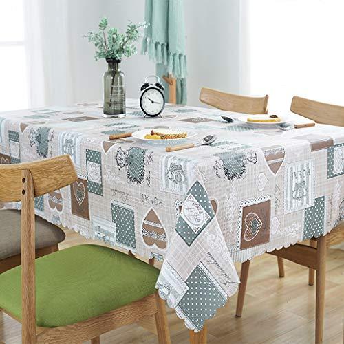 GZ-Pastorale Tischdecke/wasserdicht und ölbeständig Verbrühschutz Einweg-Tischdecke/PVC Kunststoff Tischdecke/Couchtisch Tischset Nachttisch Tuch