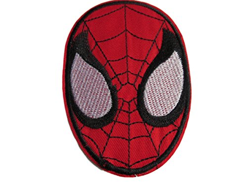 Spider-Man Maske Web Marvel Comics Superheld Kid Motiv Logo Polo T- shirt Patch Aufnäher Aufbügler Bestickt (Comic Spiderman Kostüm)