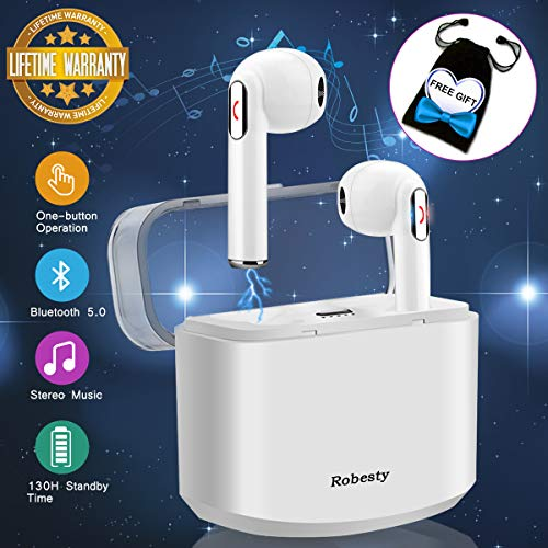 Cuffie Bluetooth,Auricolari Wireless Bluetooth Auricolari Senza Fili con Microfono Stereo Auricolare Wireless Sport Auricolari In Ear per Samsung,Huawei e altri Smartphone,Cancellazione del Rumore