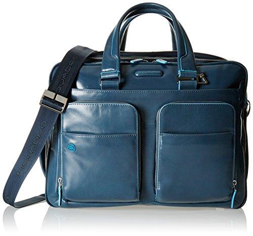 Piquadro Blue Square 16'' Briefcase with Laptop Compartment light blue