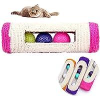 Namgiy Pelota de juguete para mascotas, juguete interactivo para gatos, pelotas de rodillo, juguete de ejercicio al azar