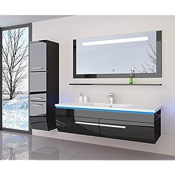 danny Badmöbelset 60 cm Weiss Vormontiert Badezimmermöbel