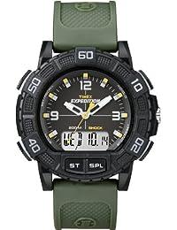 Timex  Expedition® Double Shock - Reloj de cuarzo para hombre, con correa de plástico, color verde