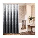 XIAOXINYUAN Duschvorhang Verdicken Schwarz Polyester Stoff mit Eco Gradienten Haken Beweis Bad Wasserdicht Bildschirme Toilettenvorhänge 180 × 180 cm