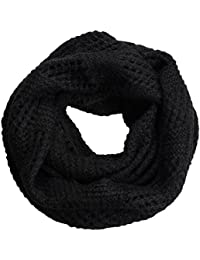 NEOSAN NEOSAN Women Warm Chunky Ribbed Knit Winter Infinity Loop Scarf  Plaid Black d90cdb7211d7