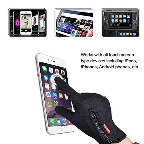 phego Touchscreen Handschuhe Outdoor Sport Damen Warme Fahrradhandschuhe Winddicht und Touchscreen geeignet (L) - 4