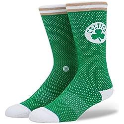 Calcetines Stance – Nba Boston Celtics Everyday Light Cushion Jersey verde/blanco/marrón talla: 43 al 46 EU I 9-11.5 USA I 8.5-11 UK