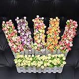 XuanMax 2pcs Roses Kunstblumen mit Zaun Kunstpflanzen mit Topf Künstliche Blumen im Pot Künstliche Pflanzen Gefälschte Topfpflanzen Bonsai Dekoartikel Ornamente 30 * 7.5 * 12cm - Farben Mischen - 5