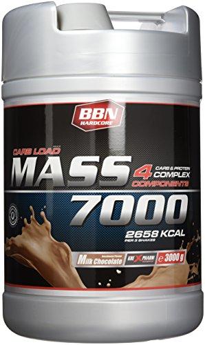 BBN Hardcore Mass 7000-4 Carb & Protein Complex, Milk Chocolate, 3000 g Dose