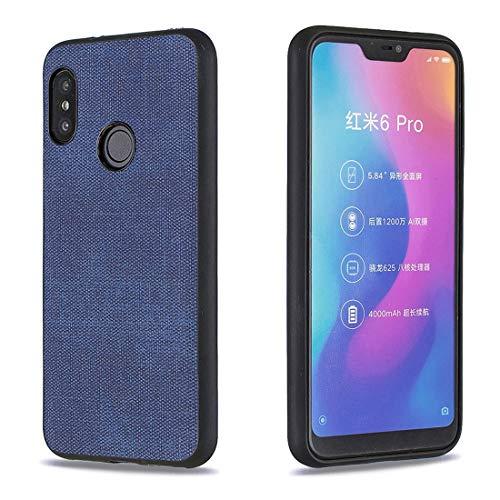Lotuslnn para Xiaomi Mi A2 Lite/Xiaomi Redmi 6 Pro Tela Silicona Funda Protection Anti-Choque Tela Suave TPU Ultra-Delgado Caja del teléfono móvil Caso para Xiaomi Mi A2 Lite/Xiaomi Redmi 6 Pro-Azul