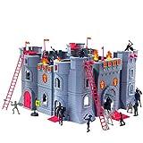 Coole, große Ritterburg mit Spielfiguren