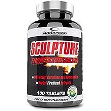 SCULPTURE THERMO REDUCER [100 CPR] ANDERSON - con acetil L-carnitina cromo picolinato ed estratti vegetali