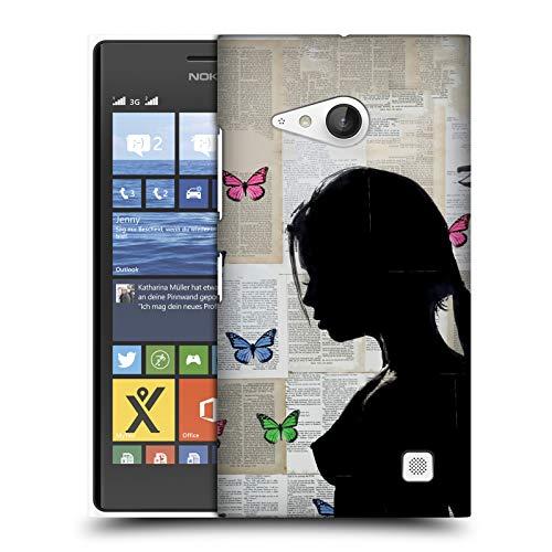Head Case Designs Offizielle LouiJoverArt Lady Silhouette 3 Schmetterlinge Ruckseite Hülle für Nokia Lumia 730/735